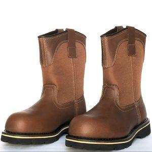NIB Brahma Steel Toe Boots Wide Size 8